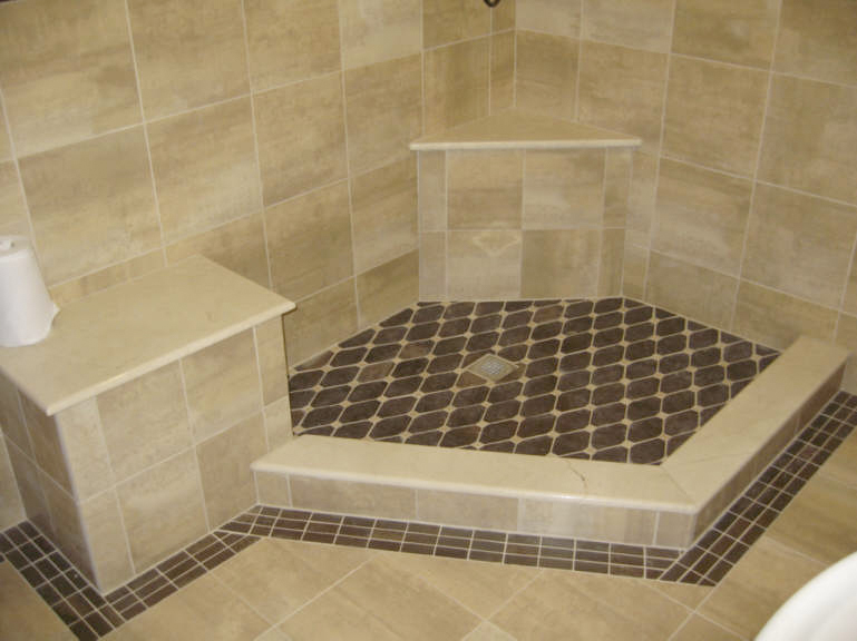 Bathroom tile on pinterest 54 pins for Shower room floor tiles